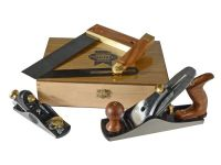 Faithfull Carpenters Tool Set in Wooden Presentation Box, 4 Piece